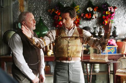 (L-R) Michael Caine, Hugh Jackman