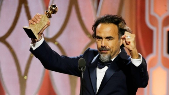 "73rd ANNUAL GOLDEN GLOBE AWARDS -- Pictured: Alejandro G. Inarritu, ""The Revenant"", Winner, Best Director - Motion Picture at the 73rd Annual Golden Globe Awards held at the Beverly Hilton Hotel on January 10, 2016 -- (Photo by: Paul Drinkwater/NBC)"